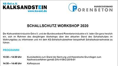 Schallschutz Workshop 2020